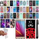 For Huawei Honor 5X Art Design TPU Soft SILICONE Rubber Case Cover + Pen