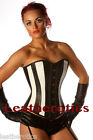 Genuine Leather Corset Victorian Style Overbust Fitting 1252B