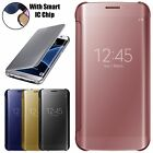 Mirror Smart Clear View Window Flip Case Cover For Samsung Galaxy S7 Edge NOTE 7