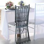 Lace Organza  Chiavari Chair Cover Embroidery Wedding Event Table Decor Colours