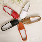 FASHION WOMEN CASUAL LEATHER LOAFERS SHOES FLAT BOAT OXFORDS SHOES US STOCK
