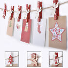 Christmas Wooden Pegs Pack Craft Festive Shaped Xmas Card Holder Decoration