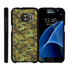 For Samsung Galaxy S7 G930 Snap On 2 Piece Case + Tempered Glass - Digital Camo