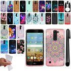 For LG K7 Tribute 5 LS675 MS330/ M1 Design TPU SILICONE Case Phone Cover + Pen