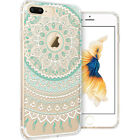Slim Printed Transparent Clear Soft TPU Protection Shell Cover Case iPhone 7 Plu