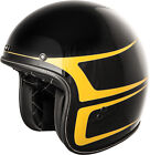 FLY Racing .38 Scallop Open-Face Helmet Gloss Black/Yellow