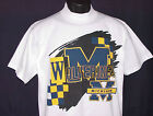 Vintage 90's Univ Michigan WOLVERINES T-Shirt College Concepts NWT New Old Stock