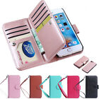For Apple iPhone Luxury Leather Card Holder Flip Wallet Phone Case Cover Skin