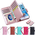 For Apple iPhone Luxury Leather 9 Card Holder Flip Wallet Phone Case Cover
