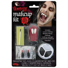 Movie Quality Vampire Make Up Kit With Fangs Horror Halloween Costume Accessory