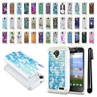 For ZTE Allstar Z818L Stratos Z819C Z819L Studded Bling HYBRID Case Cover + Pen
