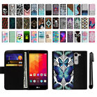 For LG Spirit H443 Magnetic Flip Wallet Leather POUCH Case Phone Cover + Pen