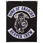 "Sons of Anarchy Reaper Crew Logo Licensed NWT Banner Flag 29"" x 38"" - Black"