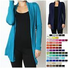 Women's Long Sleeve Hacci Rayon Open Cardigan HW-2215
