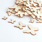 Pack 100pcs 10/15/20/25/30/35/40mm Butterfly MDF Wooden Wood Craft Arts Deco UK