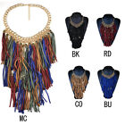 NEW Fashion Vintage Multilayer Tassel Women Statement Bib Long Collar Necklace