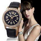 Women's Watch Stainless Steel Watches Crystal Analog Leather Quartz Wrist Watch image