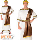 Roman Emperor Mens Fancy Dress Ancient Historical Rome Greek Adults Toga Costume