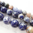 6/8/10mm Natural Sodalite Round Loose Bead 15.5 inch xx20264