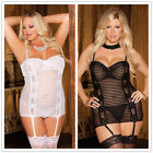 Women's lingerie plus size S-2X sexy nightgown exotic garter backless pajamas