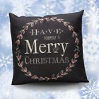 Canvas Merry Christmas Ya Filthy Animal Deer Throw Pillow Case Decorative New