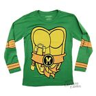Teenage Mutant Ninja Turtles Michelangelo Costume Adult Long Sleeve Shirt S-XXL