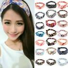Trendy Women Girls Yoga Elastic Turban Floral Twisted Knotted Hair Band Headband