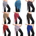 Girls Bollywood Triangle Sequin Waist Belt Belly Dance Tassel Hip Skirt Wrap