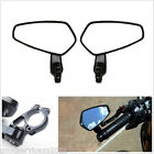 "2 X New 7/8"" 22mm Motorcycles Left Right Handbars Bar End Side Rearview Mirrors"