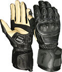 Weise Tornado + Black Leather Sport Armoured Race Motorcycle Gloves RRP £99.99