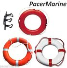 Life Buoy Ring White & Red boat Yacht River Canal Pool Pond Lake