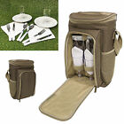 2 or 4 Person Picnic Set Camping Hiking Travel Dinner Dining Rucksack Hamper Bag