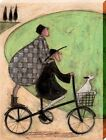 Sam Toft Double Decker Bike Canvas Print 30x40x3.8cm