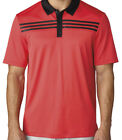 Adidas 3 Stripes Textured Polo Golf Shirt Closeout Mens New - Choose Color!