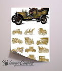 VINTAGE CARS GIANT WALL ART POSTER A0 A1 A2 A3