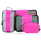 4pcs Travel Luggage Packing Cubes Value Set Storage Organizer Bags Visible Bags