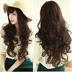 New Full Wigs Womens Girls Long Curly Wavy Hair Wig For Cosplay Party 3 Colors