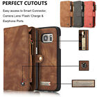 Genuine Leather Wallet Card Case For iPhone 7/ 7 Plus Magnetic Removable Cover