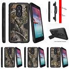 For  ZTE Z MAX PRO | ZMAX Pro Carry Z981 Holster Clip Stand Case Tree Bark Camo