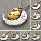 Letter I Love You Moon Heart Pendant Necklace Family Best Xmas Gift