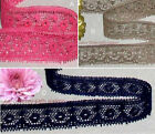 "Vintage Lace Trim 25-52 Yds, 3/4"" Navy Fuchsia Coffee 048GV Added Items ShipFree"