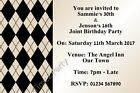 Personalised Joint or Single Birthday Party Invitations - Cream / Black Invites