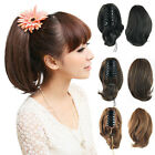 Fashion Ponytail Women's Hair Short Wavy Curly Hairpiece Extension Daily Wear