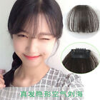 """3 Colors Women 7"""" Fashion Girls Clips on Front Neat Bang Fringe Hair Extensions"""