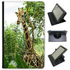 African Giraffe Universal Folio Leather Case For Samsung Tablets