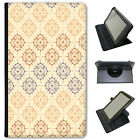 Beautiful Damask Type Patterns Universal Folio Leather Case For LG Tablets