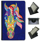 Indian Mehndi Swirl Animals Universal Leather Case For Lenovo Tablets