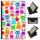 Funny Monsters Universal Folio Leather Case For Amazon KindleTablets