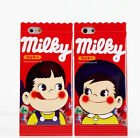 Fujiya Milky Wrapper-Style Peko-Chan Candy Case Cover For iPhone SE 5s 6 7 Plus