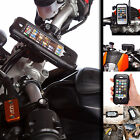 Powered Motorcycle Handlebar Clamp Bolt Mount + Tough Case for iPhone 5 5c 5s SE